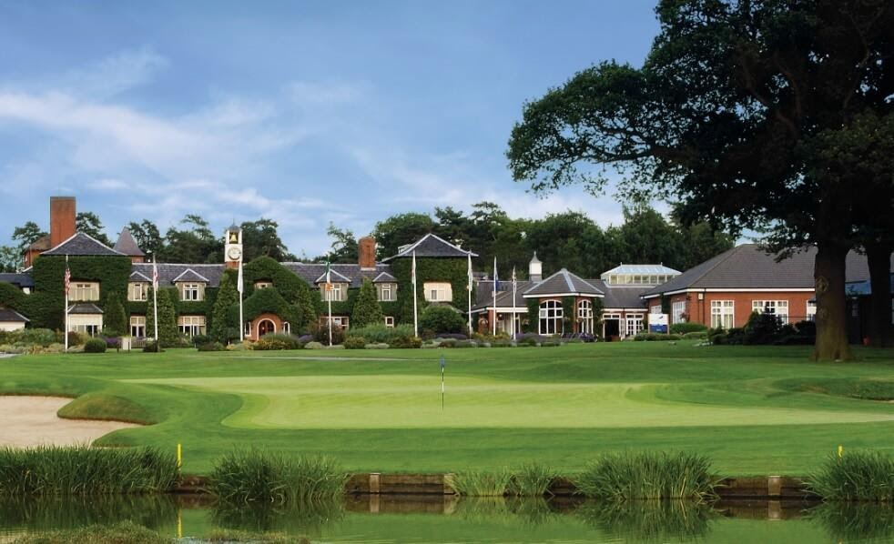 A view of The Belfry golf course with the hotel in the background