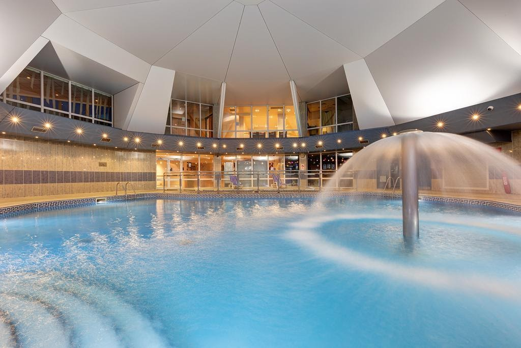 A view of the indoor swimming pool at St Mellion International Resort