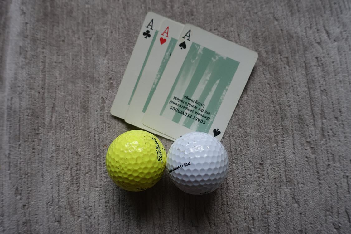 Practicing golf at home